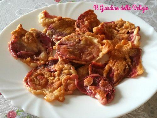 Frittelle di bietola rossa