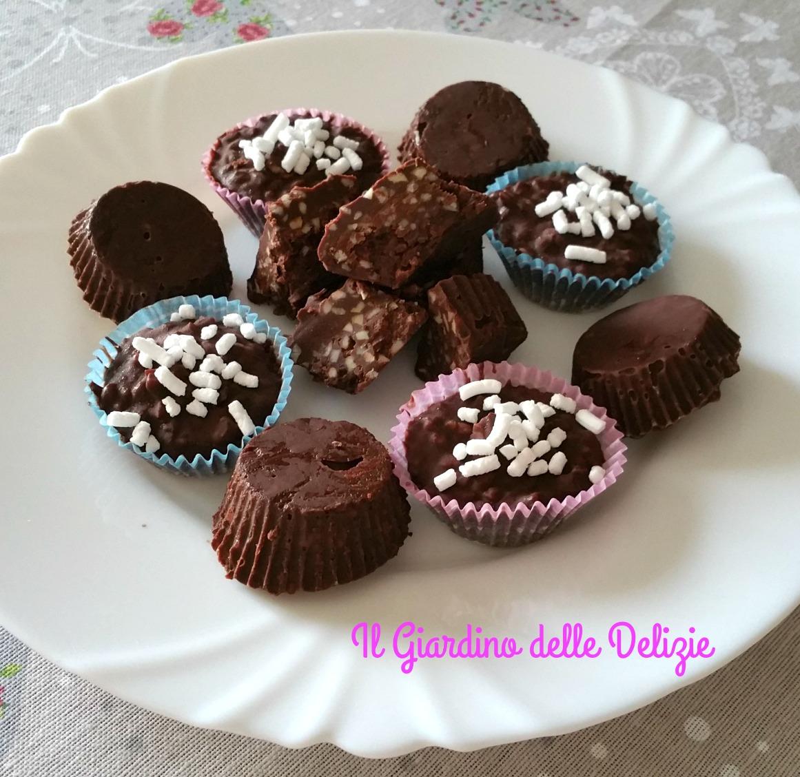 Formine al cioccolato e mandorle