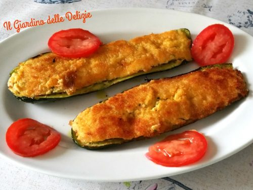 Zucchine con ricotta delicate