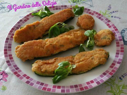 Zucchine con prosciutto e caprino