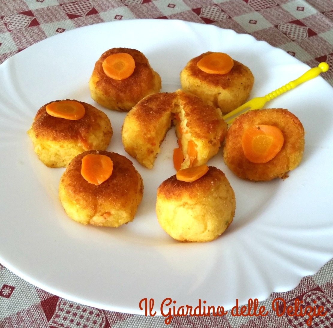 Crocchette di polenta e carote