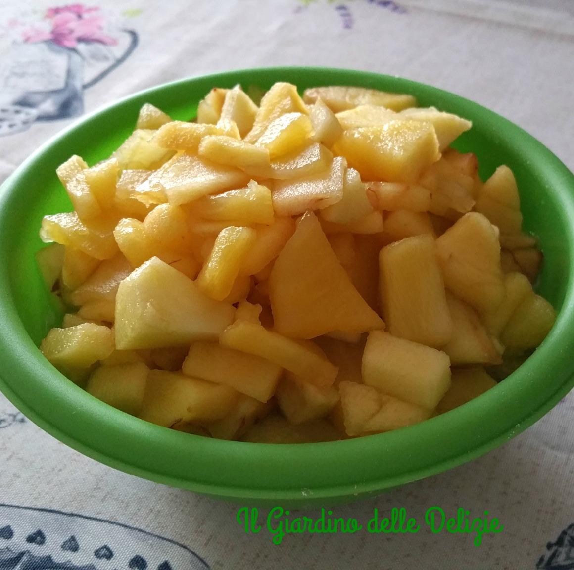 Frolla con yogurt mele e pistacchi