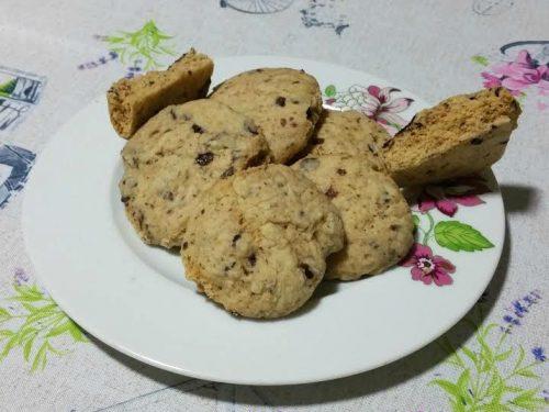 Biscotti con cioccolato al microonde
