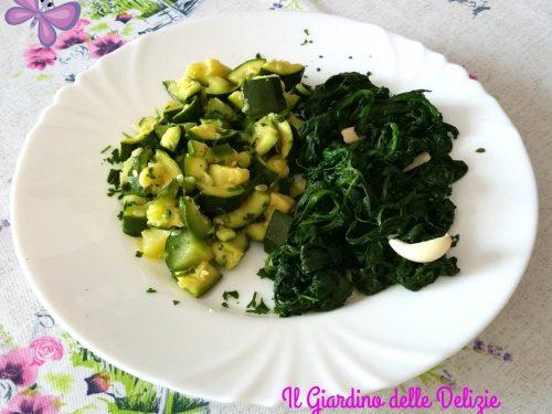 Zucchine e spinaci al microonde