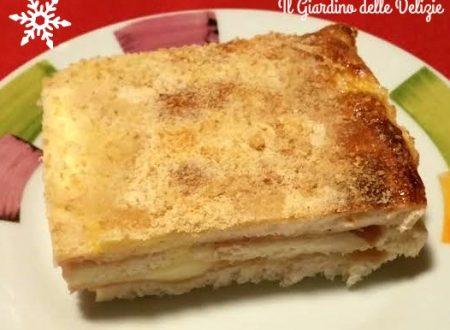 Torta pan carré e prosciutto