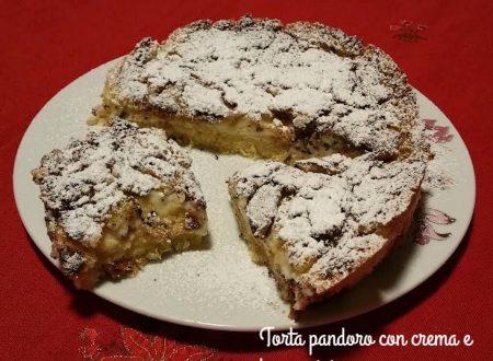 Torta pandoro con crema e torroncini