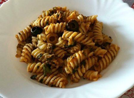 Fusilli crema di zucchine ed olive