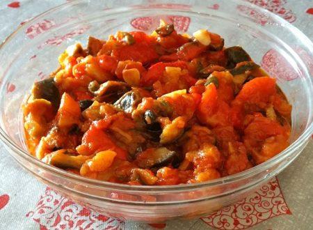 Sugo melanzana olive peperone