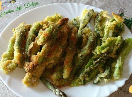 Asparagi freschi in pastella diverse