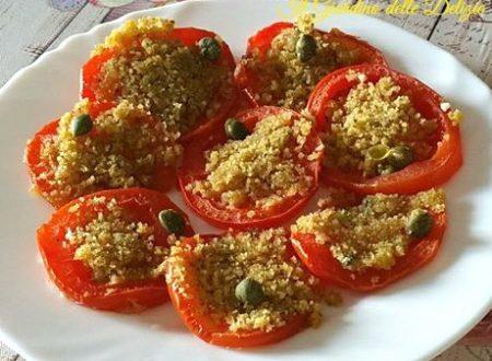 Pomodori a fette cottura al forno