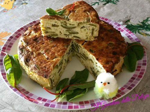 Sformato di asparagi e zucchine