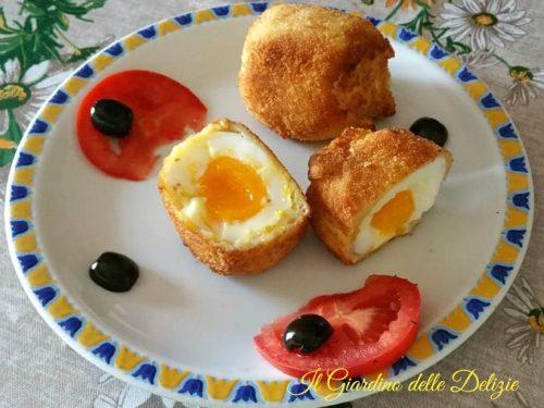 Uova impanate cremose e fritte