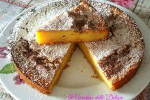 Torta morbida ricotta mele e cioccolato bianco