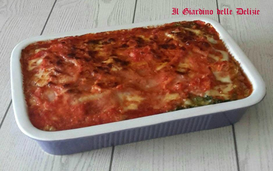 Finta lasagna di verza e prosciutto