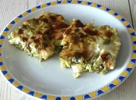Pasticcio di broccoli e pancetta