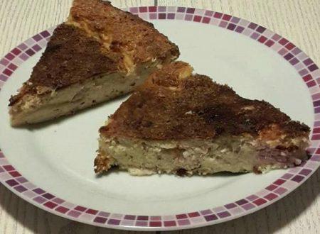 Torta di ricotta prosciutto cotto e pane al forno