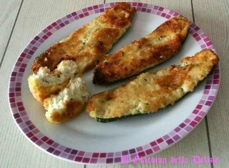 Zucchine al forno con scamorza affumicata e ricotta