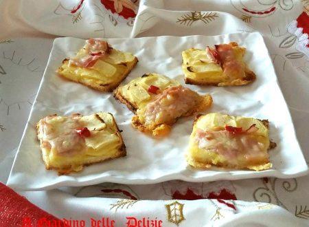 Farcelle di mele e prosciutto