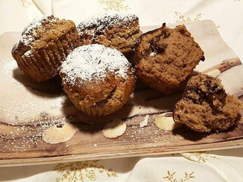 Muffin con farina di castagna e gianduiotti
