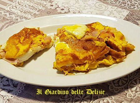 Simil omelette con prosciutto e mozzarella