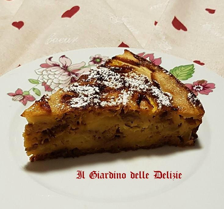 Torta di mele panettone e cioccolato