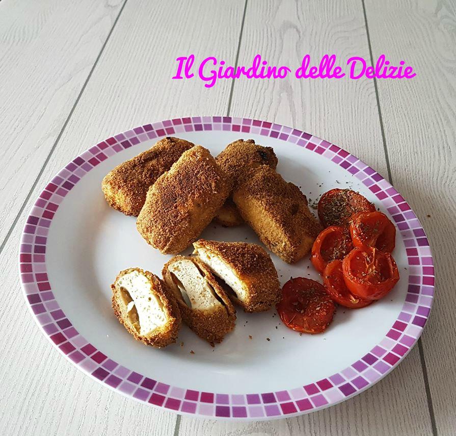 Bistecche di tofu e pomodorini al forno