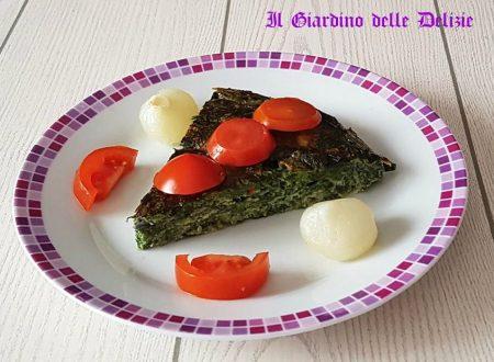 Frittata semplice di spinaci cotta al forno