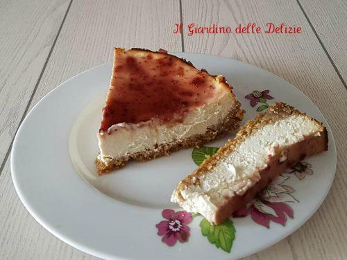 Ceesacake con miele yogurt e ricotta