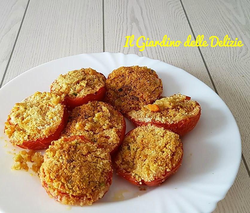 Pomodori al forno ripieni di verdurine