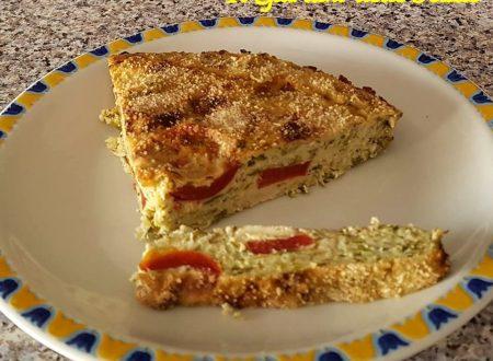 Torta di zucchine pomodoro e mozzarella