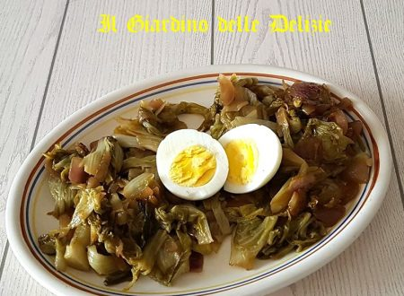 Radicchio stufato all'aglio e peperoncino