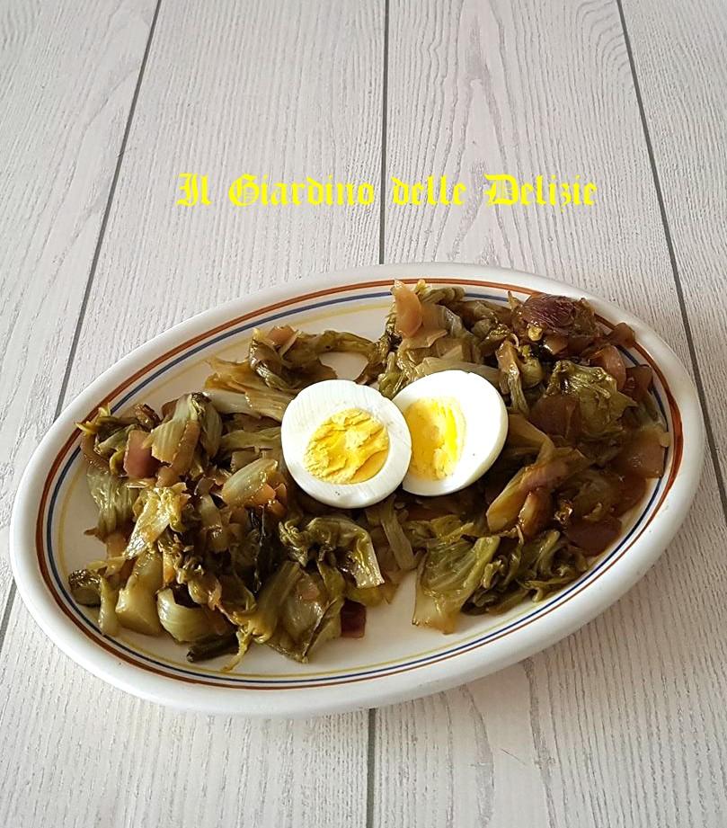 Radicchio stufato all 39 aglio e peperoncino il giardino for Ricette culinarie