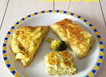 Frittata con ovette di quaglia e broccoli