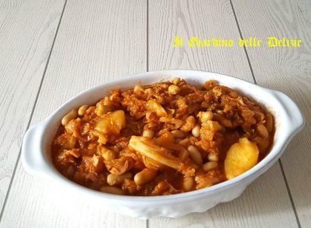 Verza cannellini e patate al microonde