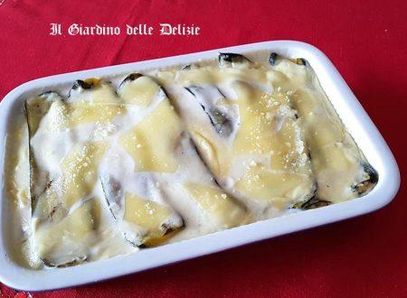 Parmigiana bianca di zucchine grigliate
