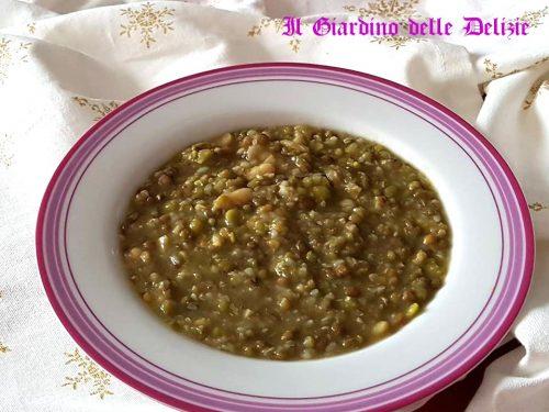 Zuppa di legumi e grano saraceno