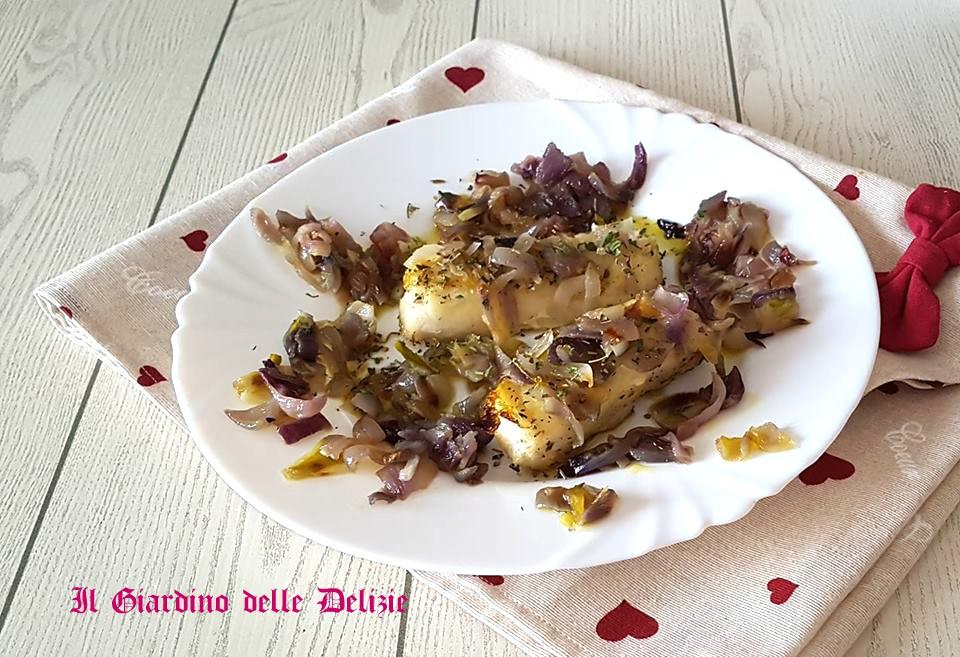 Filetti di merluzzo e cipolla
