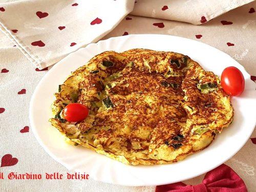 Omelette di zucchine senza olio