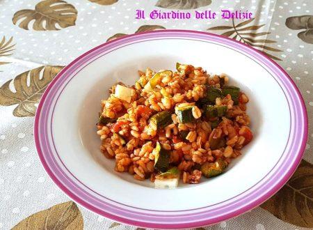 Riso rosso ai cereali e zucchine