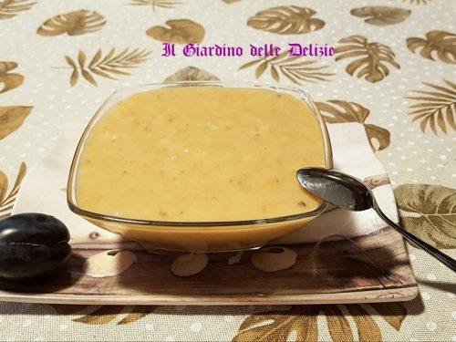 Crema con latte di soia e susine