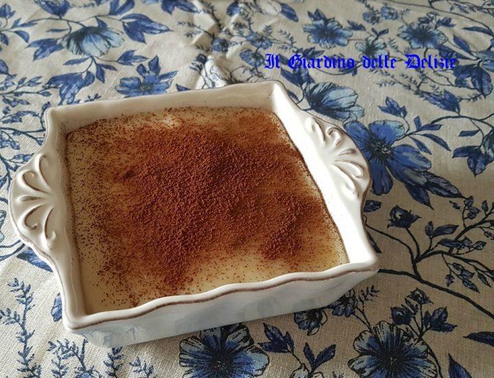 Budino con latte di soia senza uova