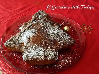 Dolce abete di Natale al cioccolato