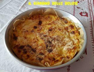 Torta salata con purè di patate