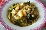 Zuppa di verza patate e porri
