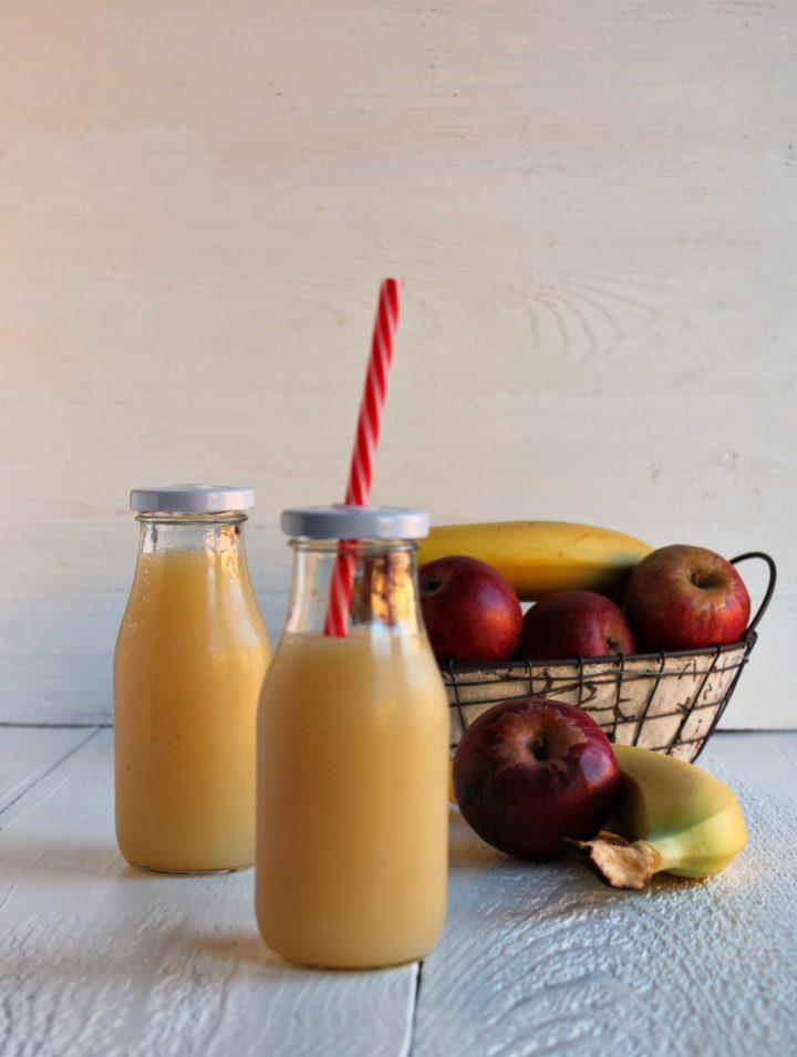 succo di mela e banana