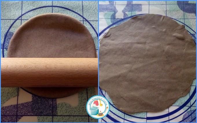piadine di grano arso fave pecorino e salsiccia