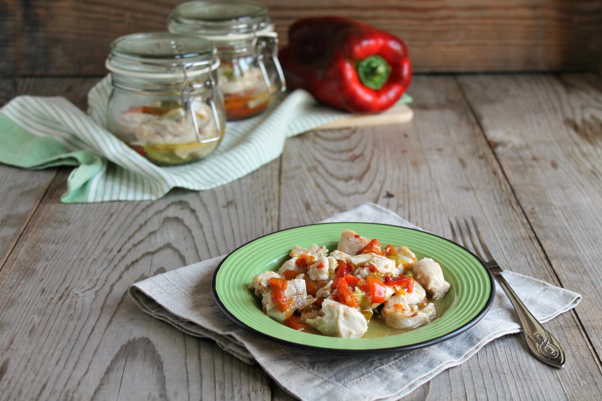 Pollo e peperoni in vaso cottura al microonde anna for Cottura microonde
