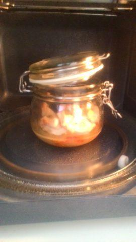 pollo e peperoni in vaso cottura al microonde