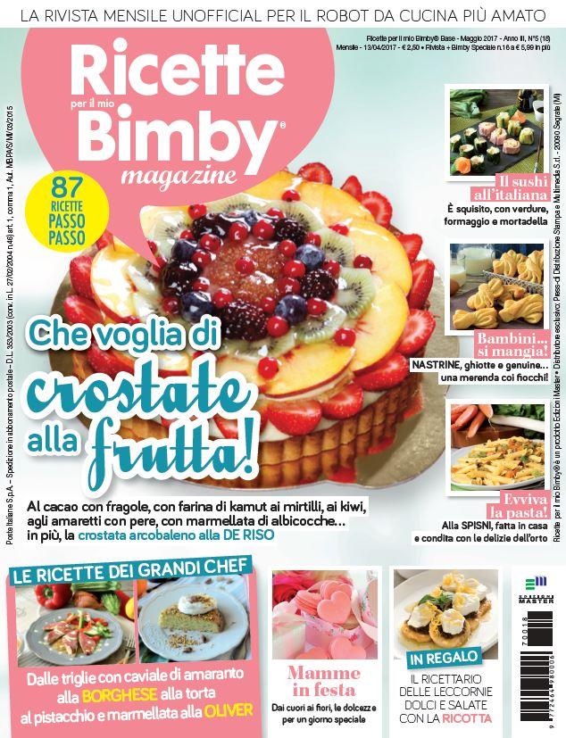 collaborazione rivista ricette per il mio bimby magazine maggio 2017