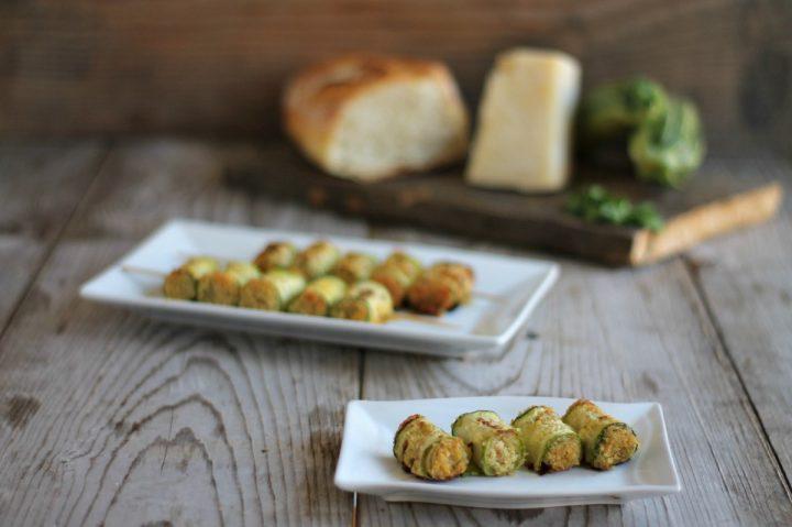 spiedini di zucchine al forno